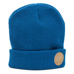 Beanie - Leather Patch - Iceland - Blue - Idontspeakicelandic
