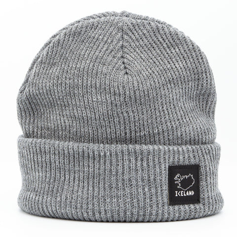 Beanie - City - Iceland Patch - Light Gray - Idontspeakicelandic