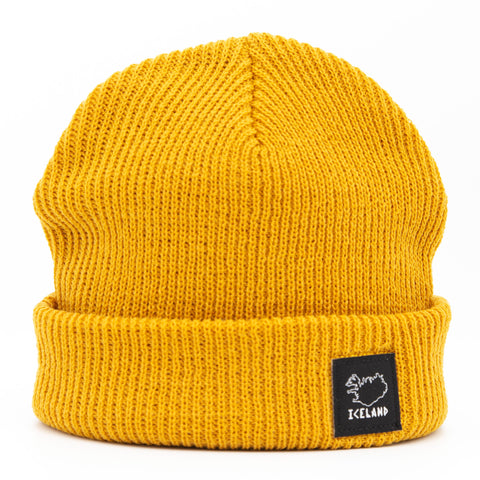 Beanie - City - Iceland Patch - Wheat Yellow