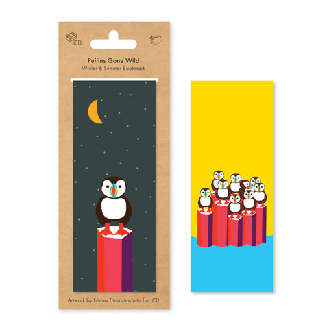 ICD -  Magnetic Bookmark - Puffins Gone Wild