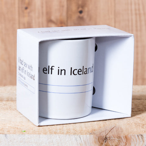 I Had Sex With an Elf in Iceland - Mug in a Box - White