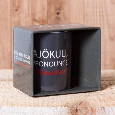 Eyjafjallajökull Is So Easy to Pronounce - Mug in a Box - Gray - Idontspeakicelandic