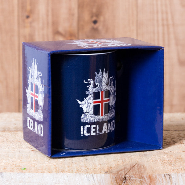 Icelandic Coat of Arms - Mug in a Box - Blue