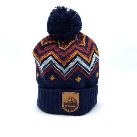 Chevy Medium Beanie -Mont Iceland Leather Patch