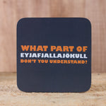What Part of Eyjafjallajökull...  - Set of 6 Cork Coasters - Idontspeakicelandic