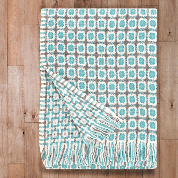 Corona - Quality Wool Blanket from Finland - Turquoise