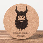 Drink Like a Viking - Set of 6 Cork Coasters