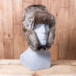Russian Rabbit Fur Hat - Brown - Idontspeakicelandic