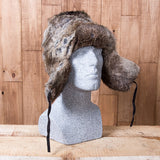 Russian Rabbit Fur Hat - Brown