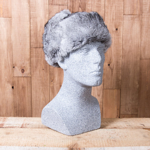 Russian Rabbit Fur Hat - Gray - Idontspeakicelandic