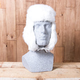 Russian Rabbit Fur Hat - White