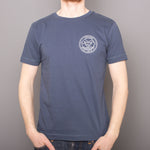 Dive Into It Badge - T-Shirt - Salvage Mid Blue
