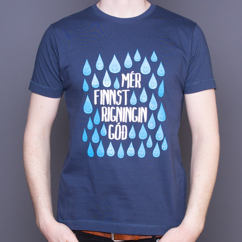 I Like the Rain (Icelandic) - T-Shirt - Maroon