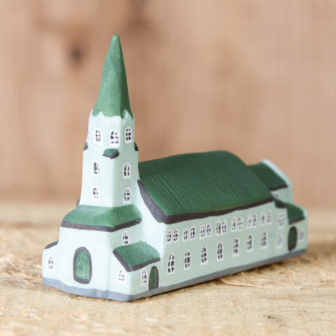 Fríkirkjan - Ceramic Decor House Figurine