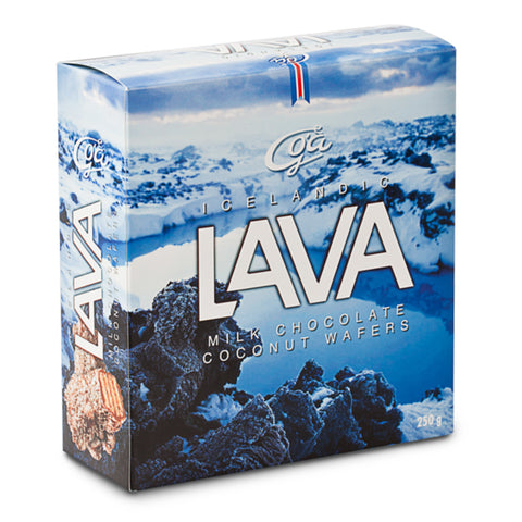 Lava - Milk Chocolate Coconut Wafers - Idontspeakicelandic