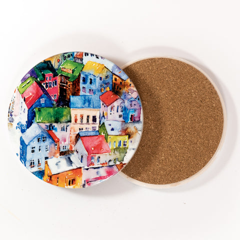 ICD - Ceramic coaster - Around the Town