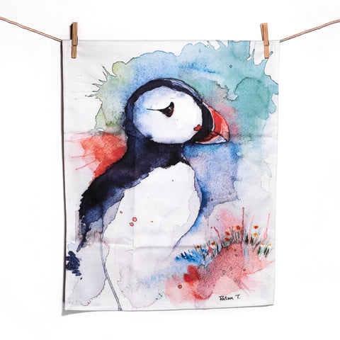 ICD - Tea Towel - Puffin Summer