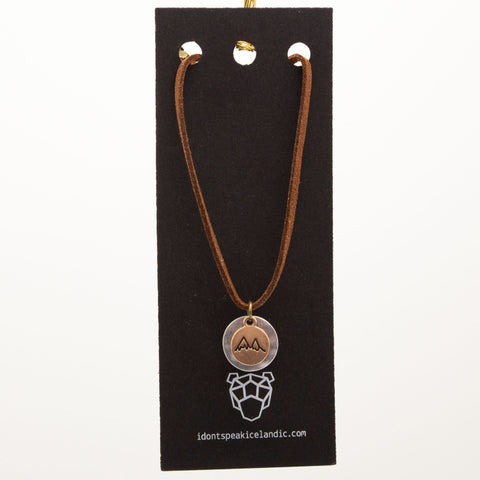 IDSI Jewelry - Leather Necklace - Mountains - PN: WNA255
