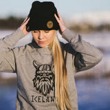 Beanie - Leather Patch - Iceland - Black