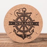 Iceland Nautical - Set of 6 Cork Coasters - Idontspeakicelandic