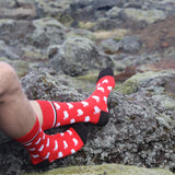 <transcy>Socken - Island Map - Red_Black - Neu</transcy>