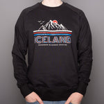 Unisex Pullover Raglan - Iceland Neverending Adventure - Black