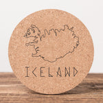 Iceland Runefont - Set of 6 Cork Coasters