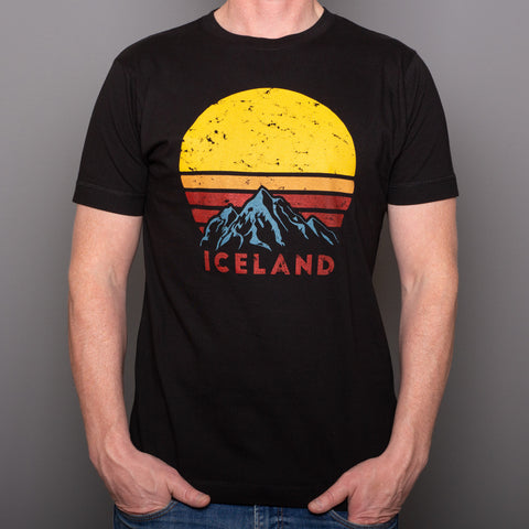 Iceland Mountain in Rising Sun - T-Shirt - White