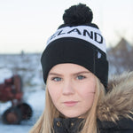 Iceland Beanie with Pom - Black/White