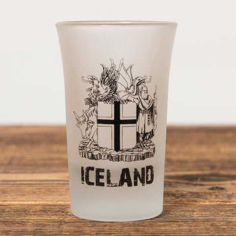 The Icelandic Coat of Arms - Shot Glass