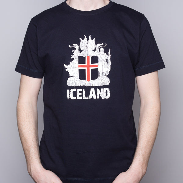 Icelandic Coat of Arms - T-Shirt - Navy Blue