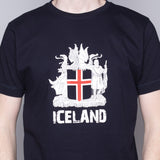 Icelandic Coat of Arms - T-Shirt - Navy Blue - Idontspeakicelandic