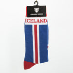 Sock - Iceland Flag - Blue/White/Red