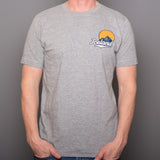 Iceland Mountain in Sun - T-Shirt - Gray
