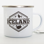 Iceland Mountains - White Camping Mug