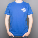 Iceland Mountains Badge - T-Shirt - Blue