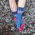 Socks - Iceland - Blue/Red - New