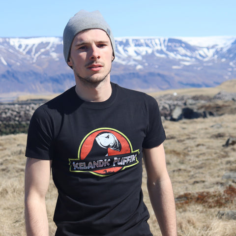Icelandic Puffin - T-Shirt - Black