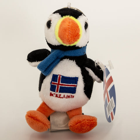 Puffin Iceland Flag and blue scarf - Keychain - Plush Toys