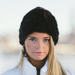 Knitted Rabbit - Knit Hat - Black