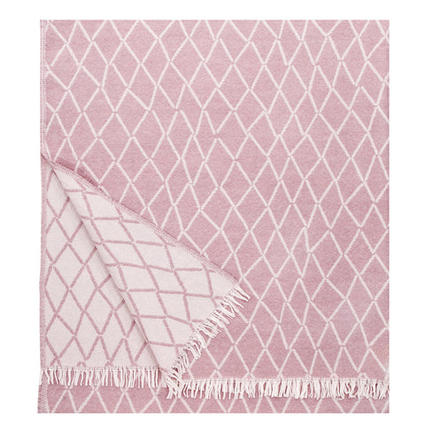 Eskimo - Quality Wool Blanket from Finland - Rose - Idontspeakicelandic