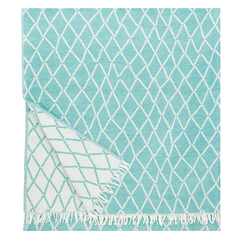 Eskimo - Quality Wool Blanket from Finland - Turquoise