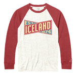 Legacy Active - Victory Falls Raglan Baseball - Heather Linen/True Red