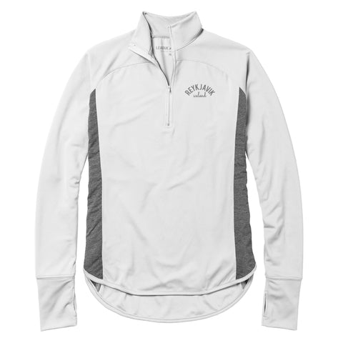 Legacy Active - Womans - Lightwaight Quarter Zip - White/Grey