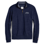 Legacy Active - Triblend Collegiate Quarter Zip - Heather Varsity Royal Blue
