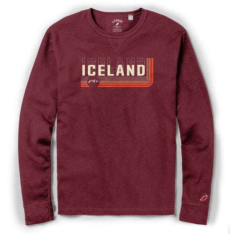 Legacy Active - Mens Slub Thermal - Iceland Low Down - Maroon