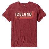 Legacy Active - Victory Falls Tee - Heather Garnet - Iceland Low Down