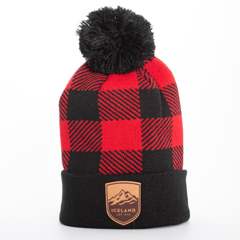 Local - Buffalo Beanie - Mont Iceland Leather Patch - Black