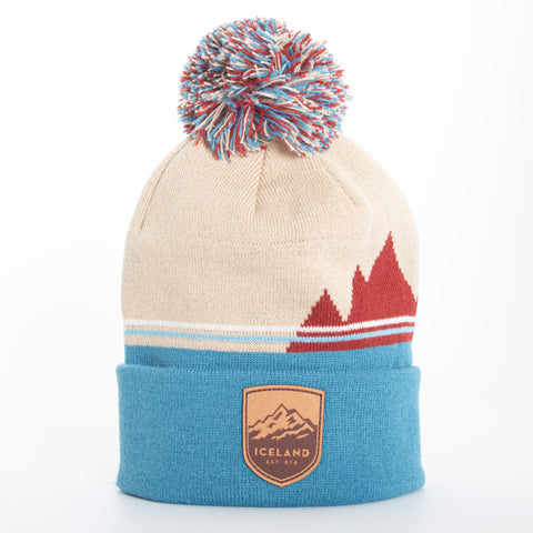 Local - Lone Peak Beanie - Mont Iceland Leather Patch - Beige