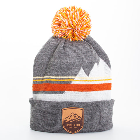 Local - Lone Peak Beanie - Mont Iceland Leather Patch - Grey